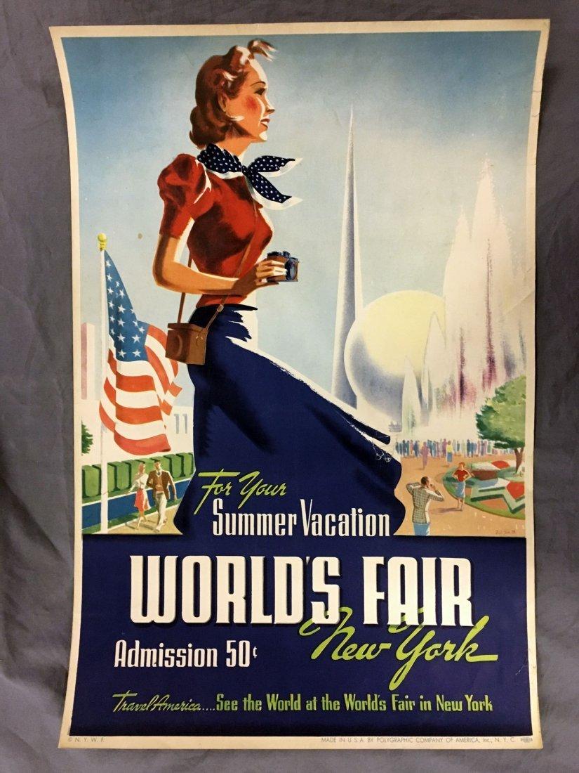 1939 New York World's Fair Summer Vacation Poster