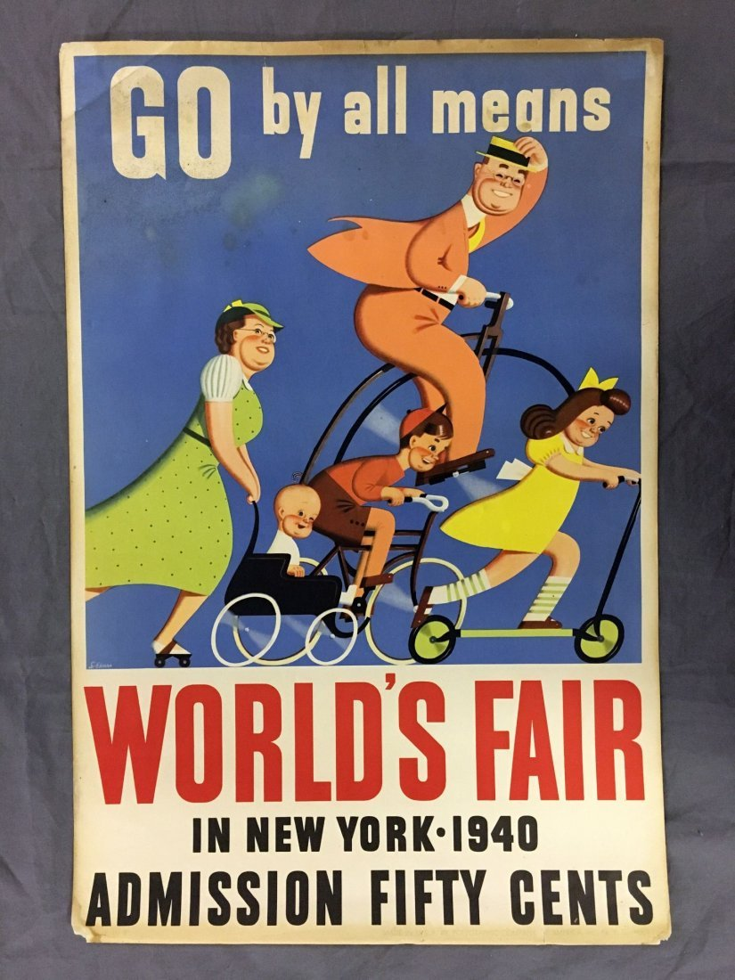 1940 New York World's Fair Admission Poster, Ekmar