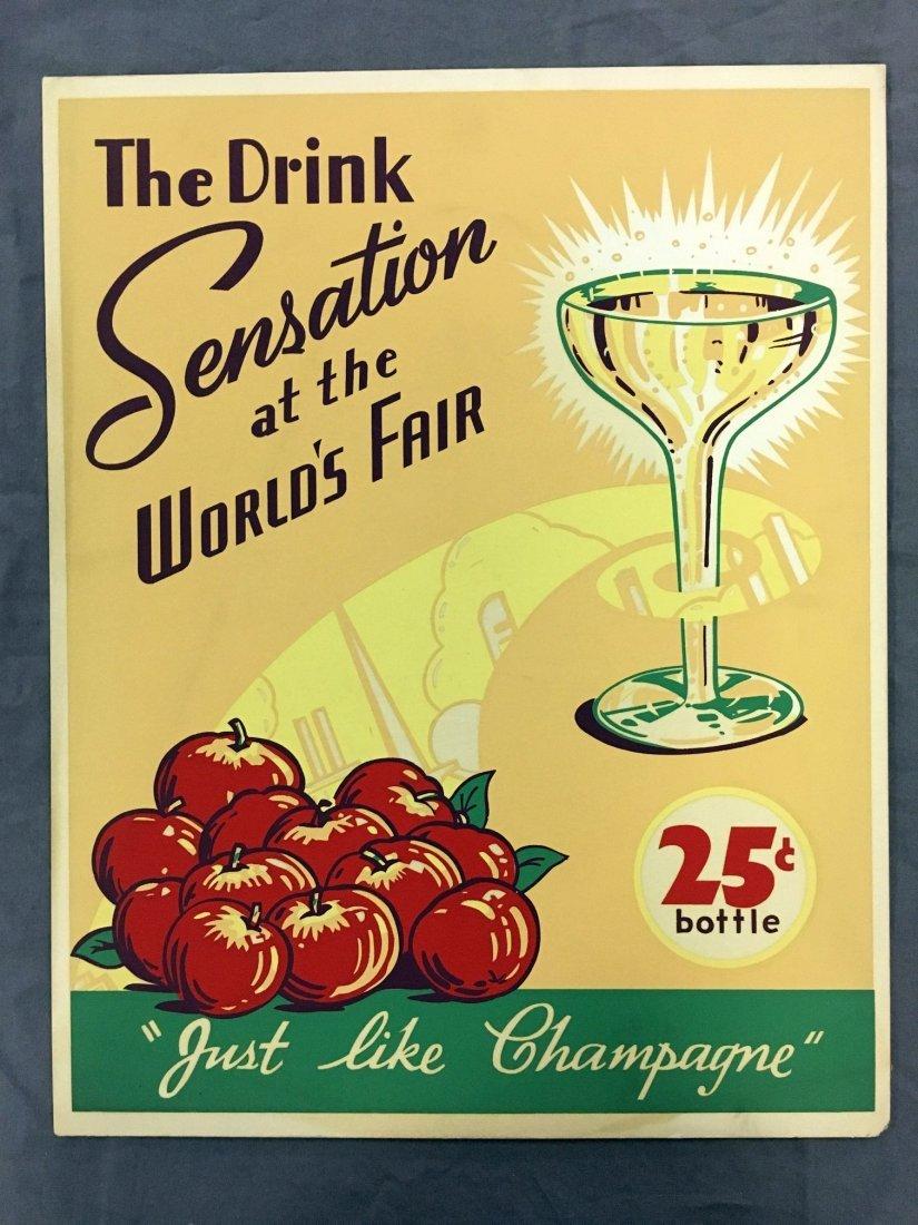 Drink Sensation at the World's Fair Cardboard Sign