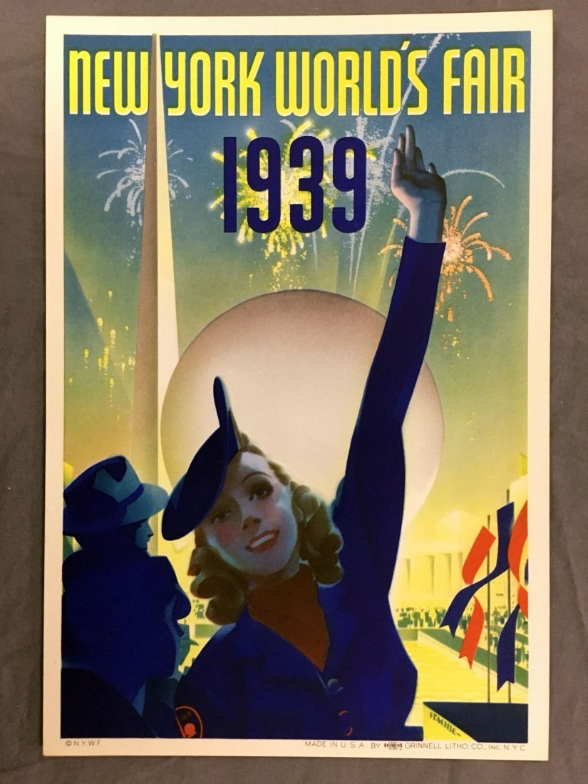 1939 NY World's Fair Mini Poster, Albert Staehle