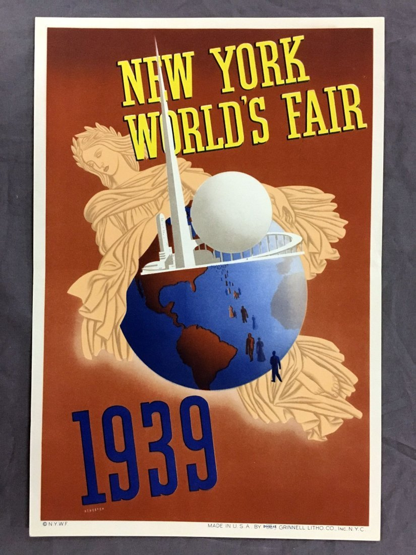 1939 NY World's Fair Mini Poster, John Atherton