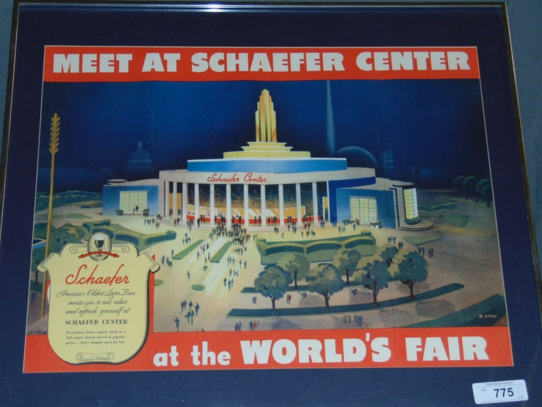 1939 NYWF Schaefer Beer Advertising Poster