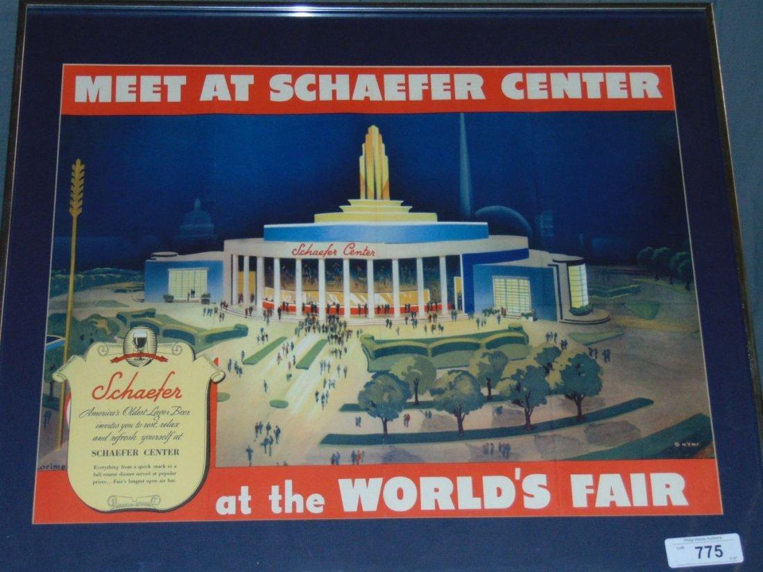 1939 NYWF Schaefer Beer Advertising Poster