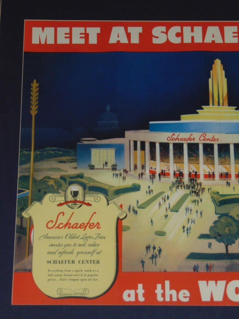 1939 NYWF Schaefer Beer Advertising Poster - 2