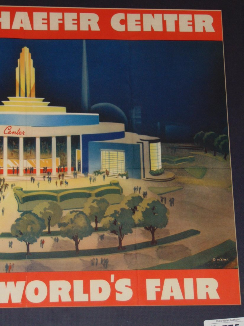 1939 NYWF Schaefer Beer Advertising Poster - 3