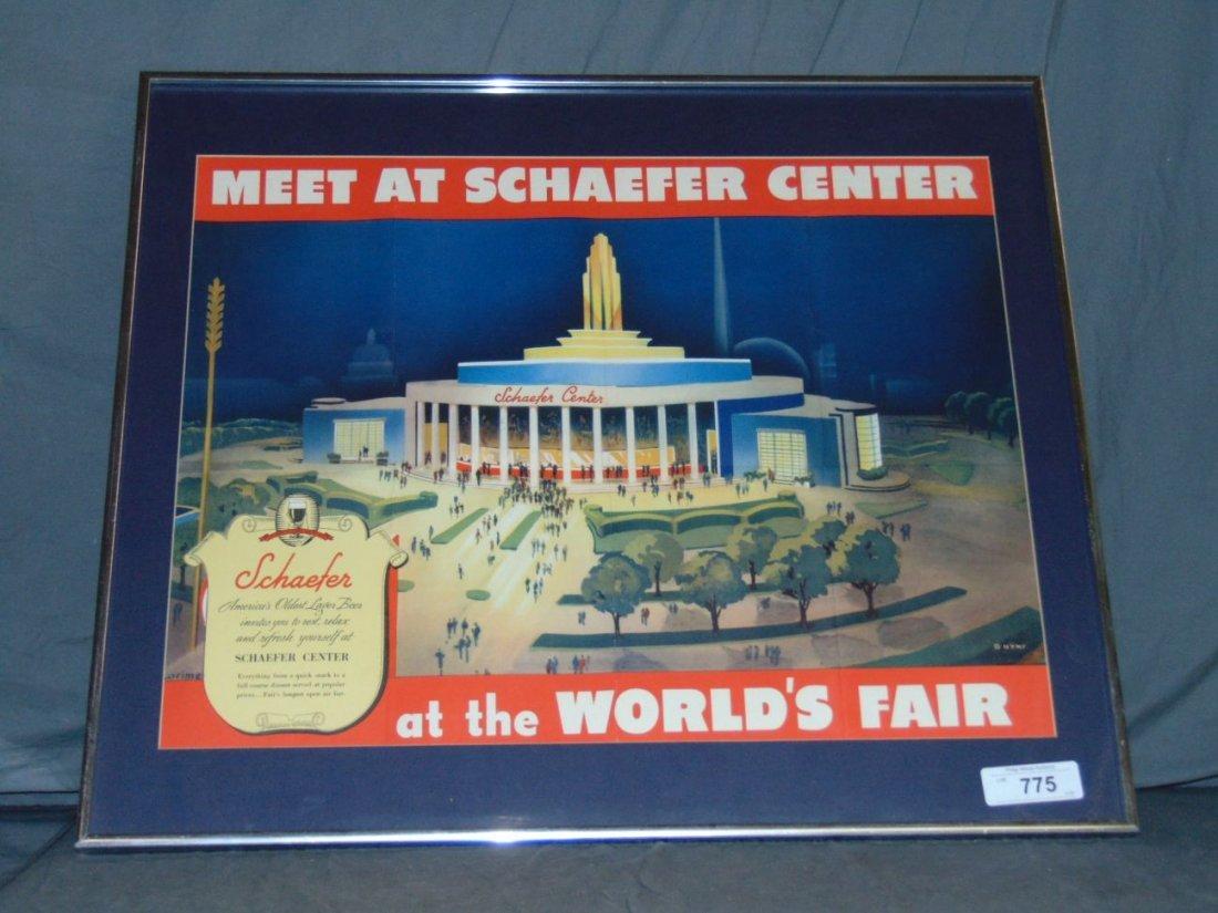 1939 NYWF Schaefer Beer Advertising Poster - 5