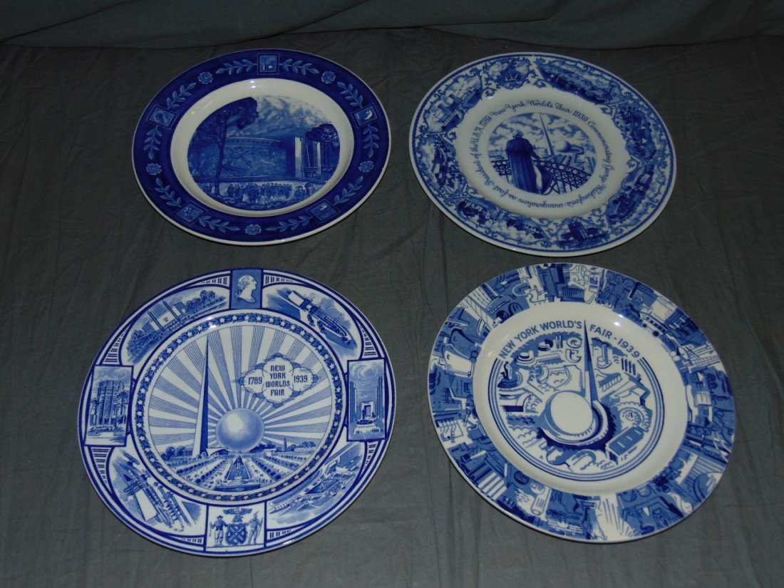 (4) 1939 NYWF English China Souvenir Plates