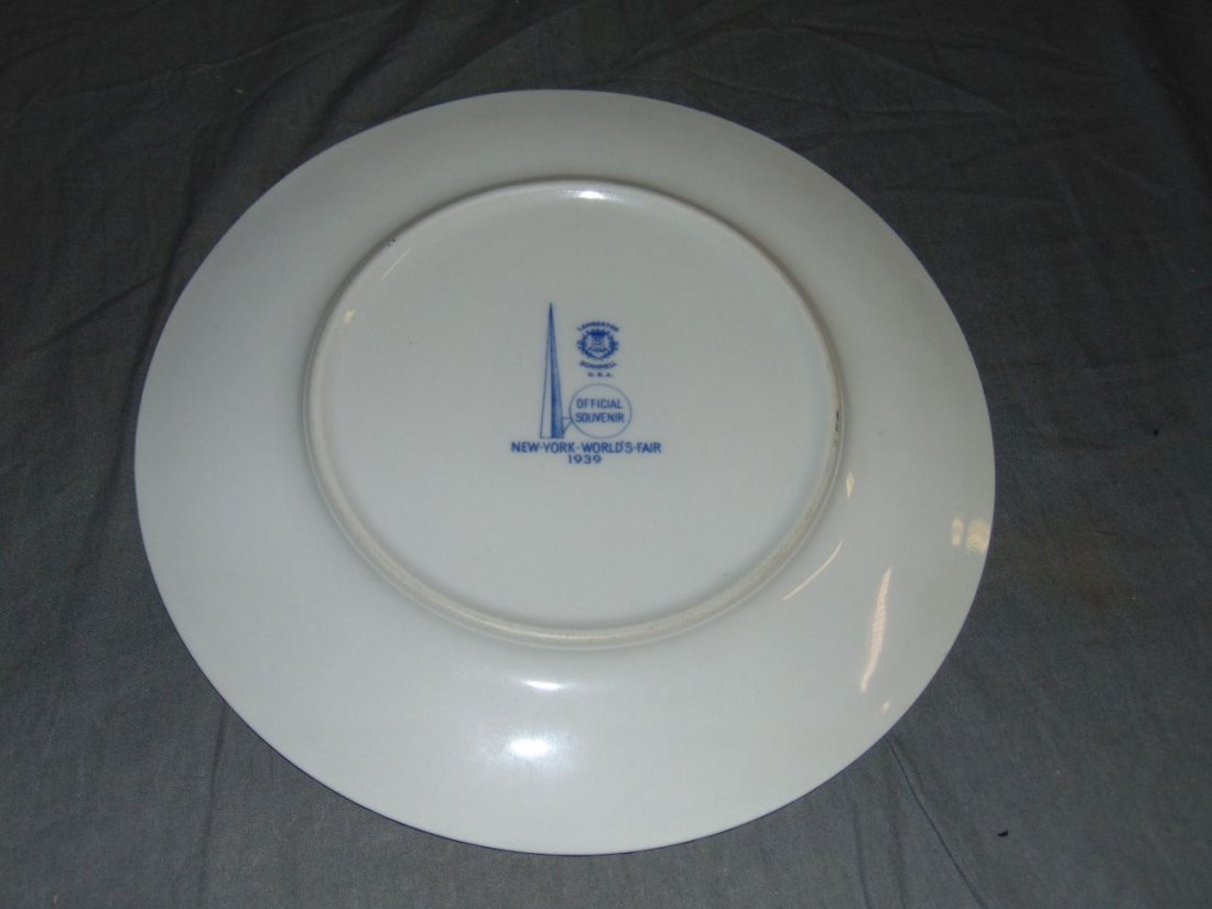 (4) 1939 NYWF English China Souvenir Plates - 3