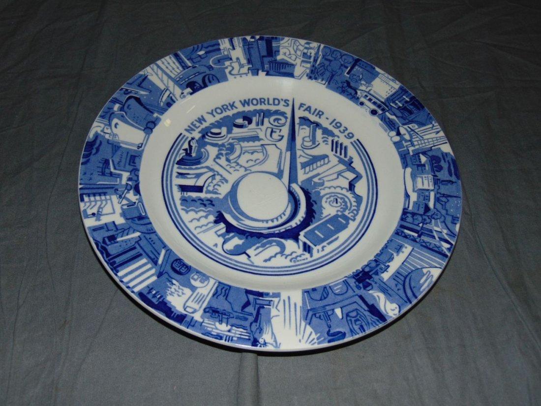 (4) 1939 NYWF English China Souvenir Plates - 4