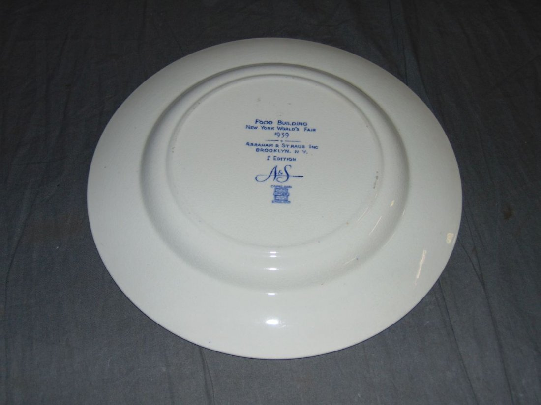 (4) 1939 NYWF English China Souvenir Plates - 9