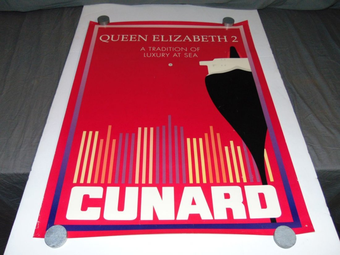 Queen Elizabeth 2 Cunard Poster