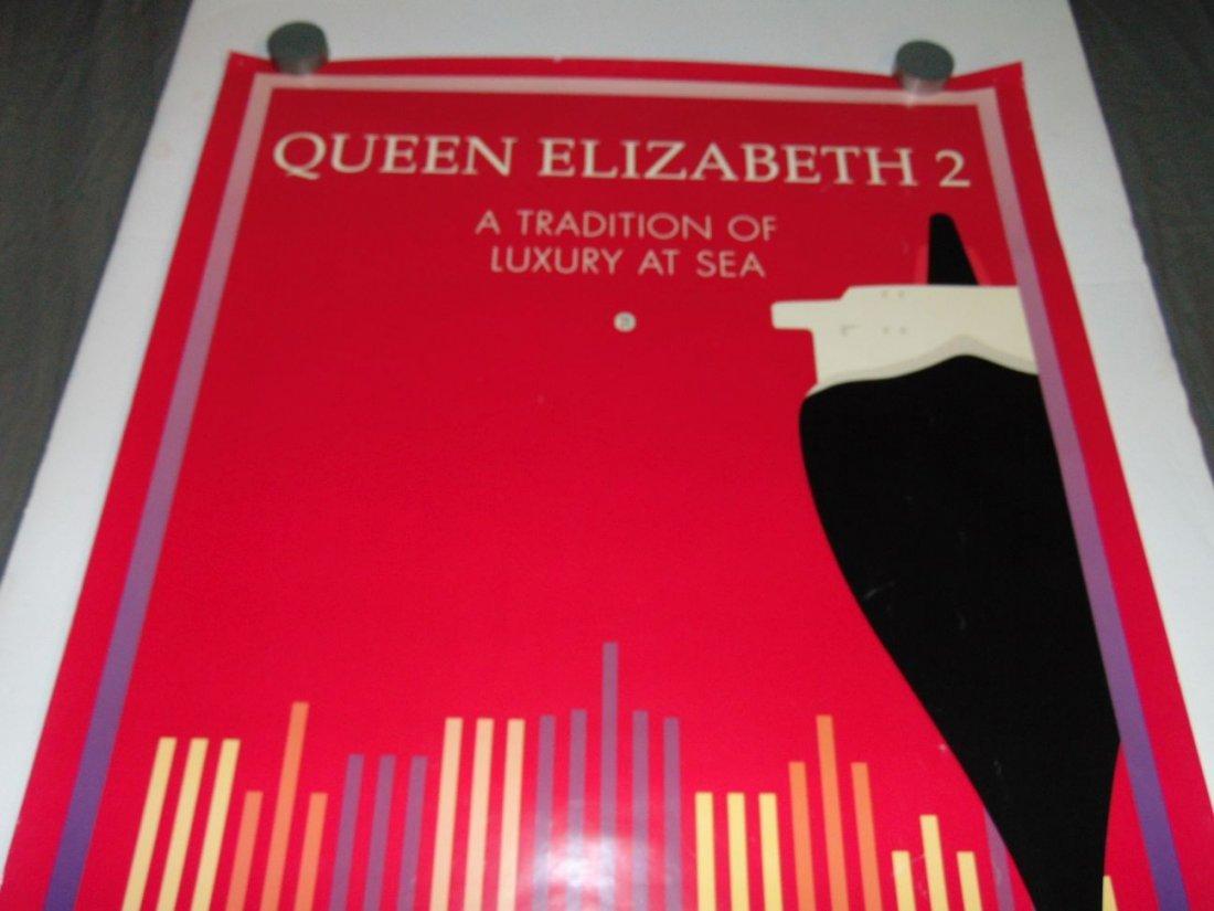Queen Elizabeth 2 Cunard Poster - 2