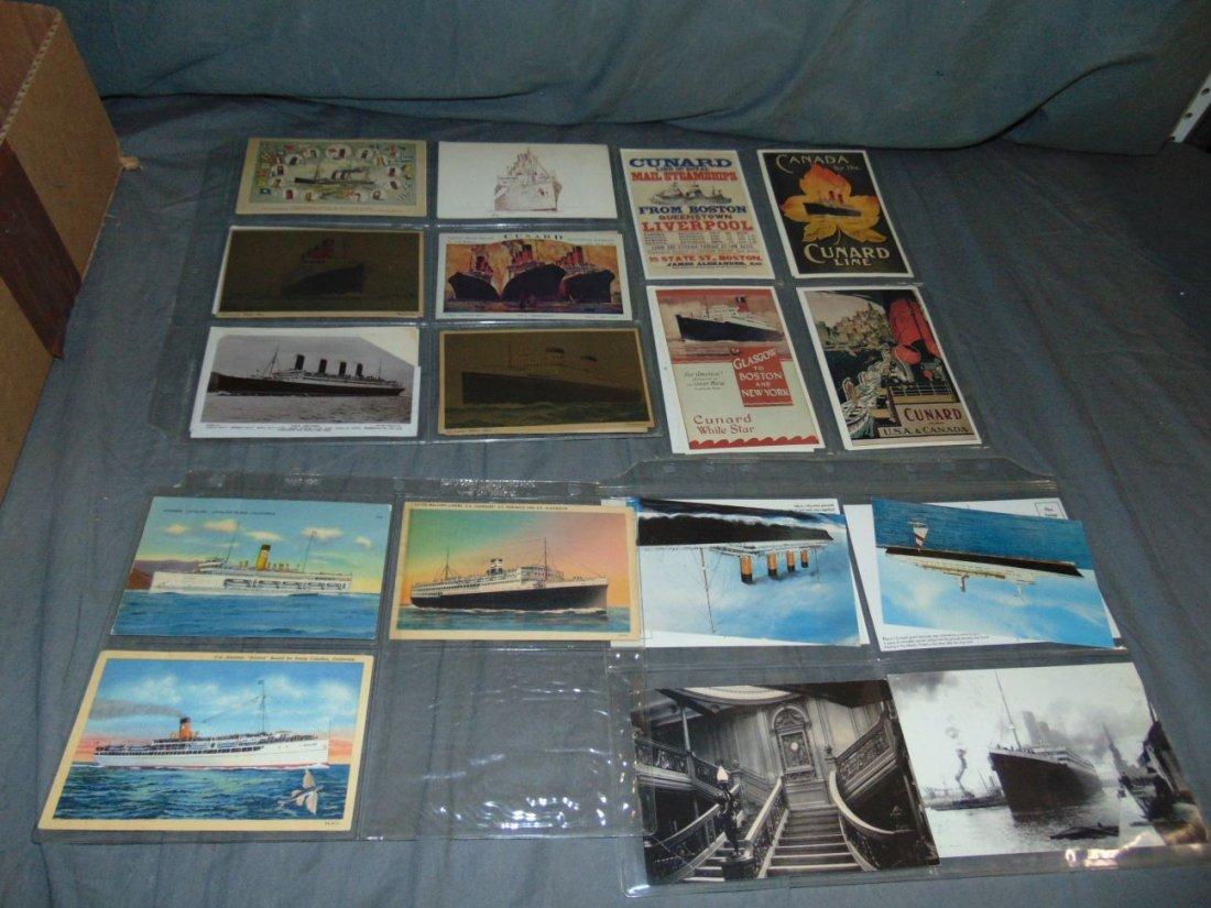 Ocean Liner Postcard Lot - 3