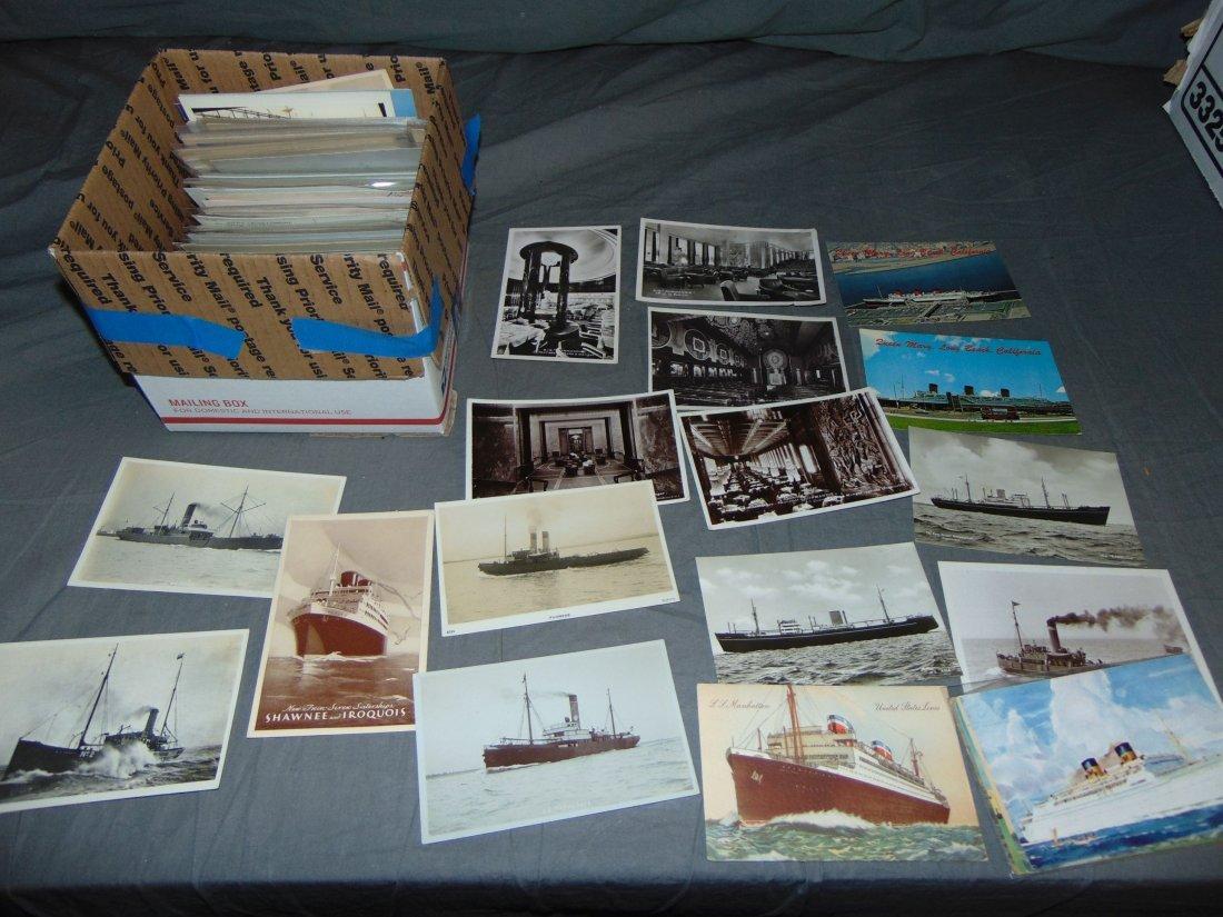 Ocean Liner Postcard Lot.