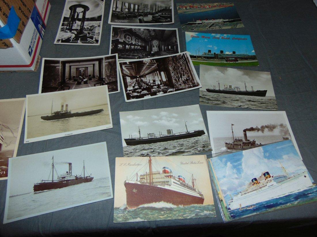 Ocean Liner Postcard Lot. - 2