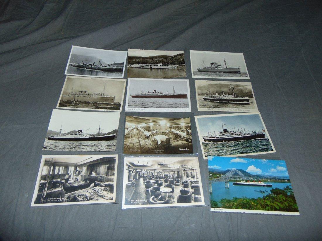Ocean Liner Postcard Lot. - 3