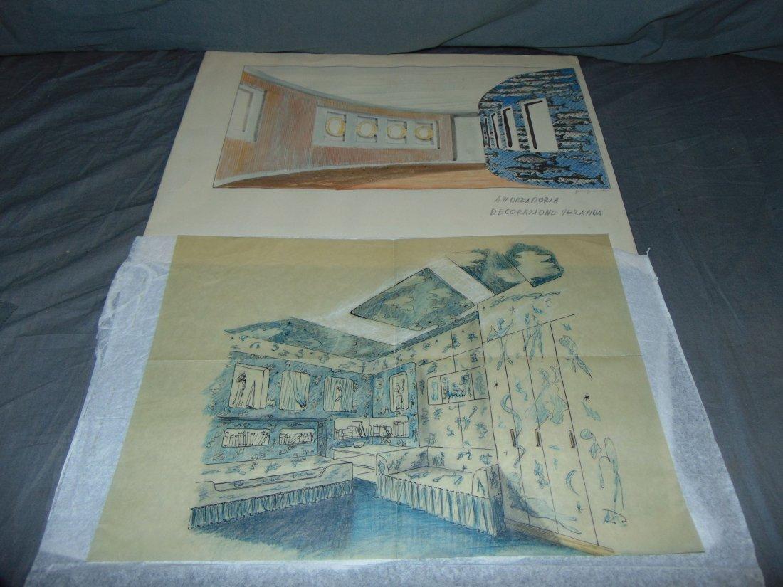 Piero Fornasetti. Andrea Doria Illustrations.