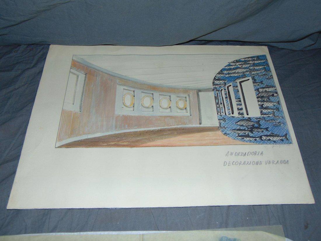 Piero Fornasetti. Andrea Doria Illustrations. - 3