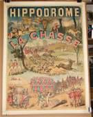 291 HIPPODROME LA CHASSE  ADVERTISING PSTR 1886