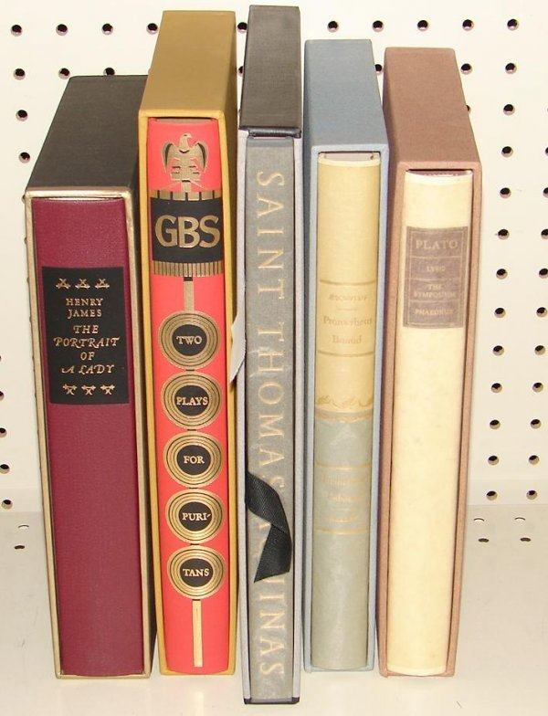 1014: LOT OF 5 LIMITED EDITION CLUB BOOKS