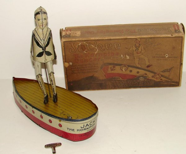 2010: BOXED TIN LITHO JACKEE THE HORNPIPE DANCER