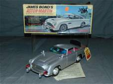 1965 Boxed Gilbert B/O James Bond Aston Martin