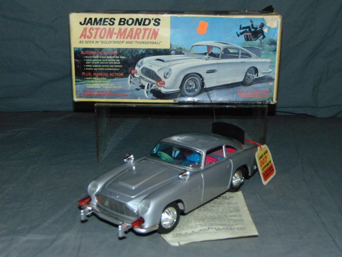 1965 Boxed Gilbert B/O James Bond Aston Martin