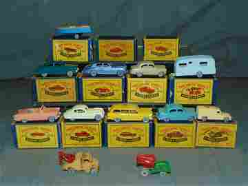 Vintage Lot of Grey Wheel Matchbox in Orig. Boxes