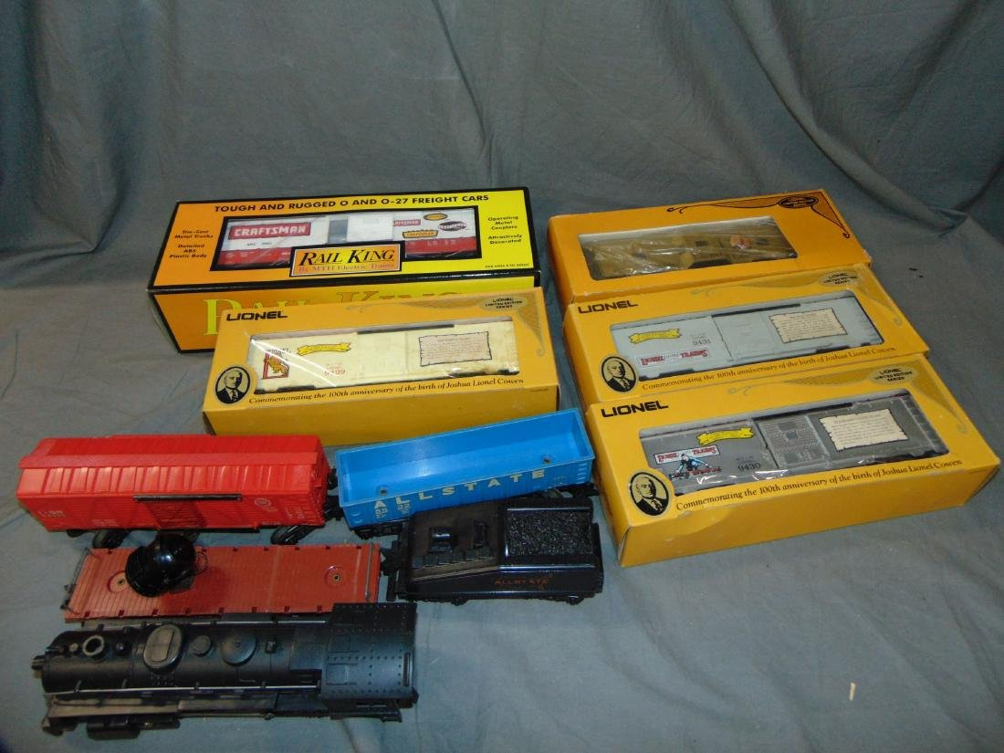Large Lot Featuring Allstate Steam Freight Set