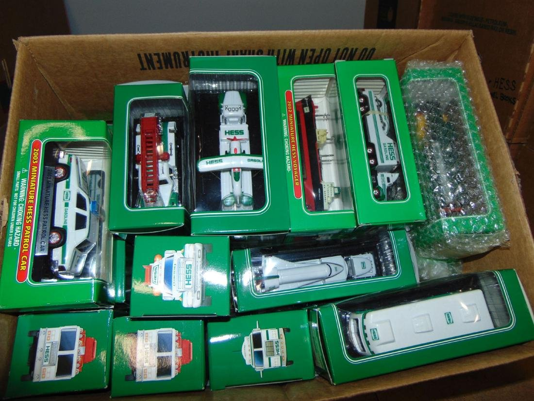 Large Lot of Hess Miniature Trucks, and Vehicles