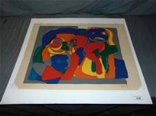 Karel Appel, Signed Colored Lithograph