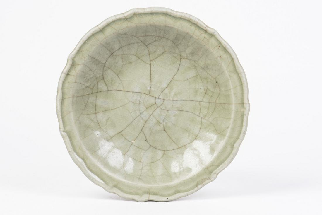 A Ru-type Foliate Longquan Celadon Dish