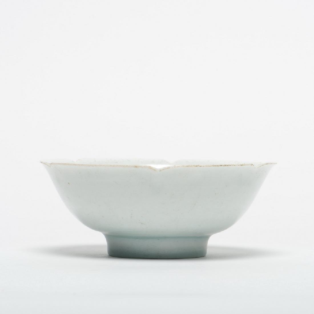 A Ying Qing Petal-Form Tea Bowl, Song Dynasty