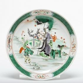 A Famille Verte Porcelain Charger, 19th Century