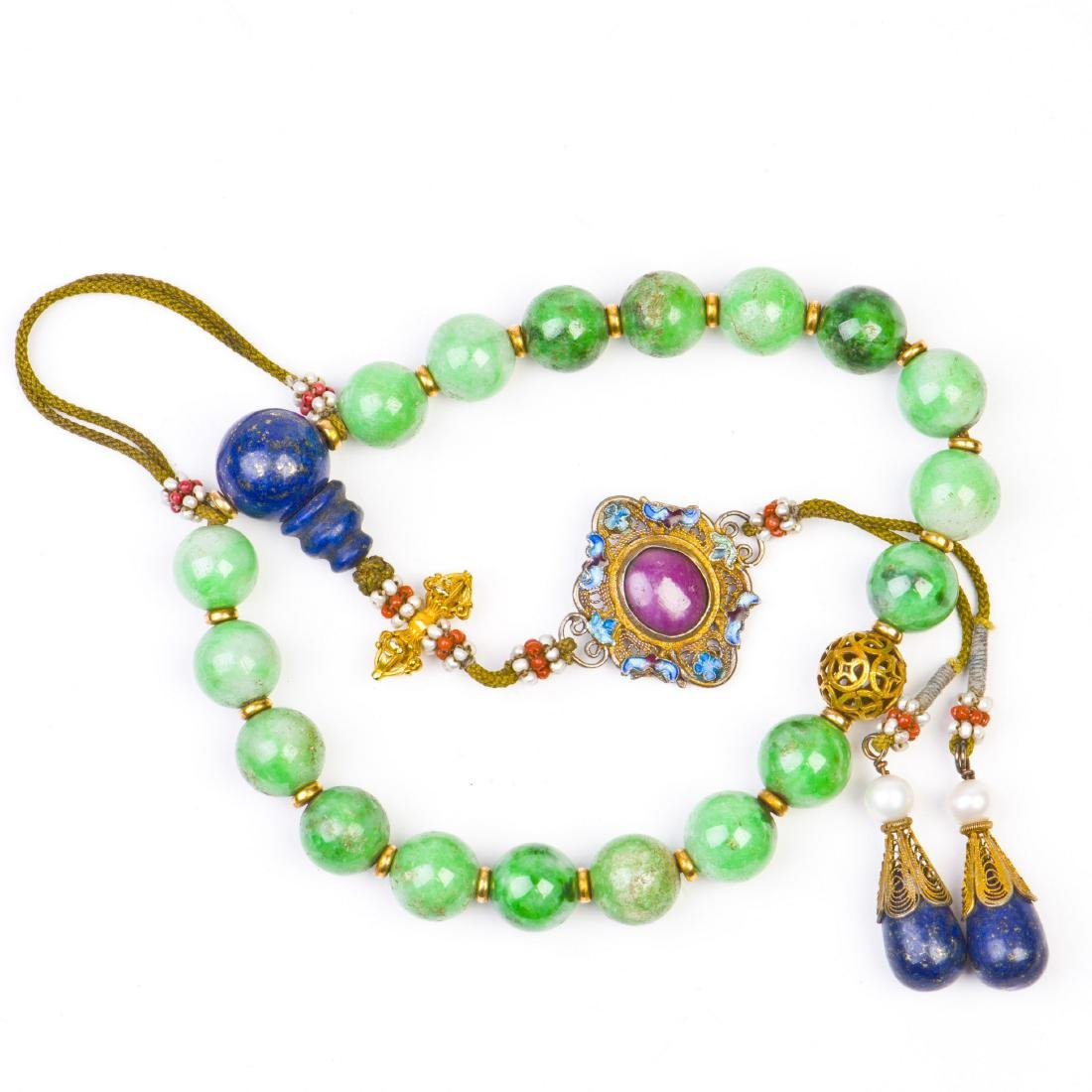 Jadeite Prayer Beads Strand