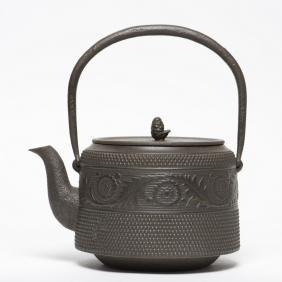 A Japanese Tetsubin Cast Iron Teapot