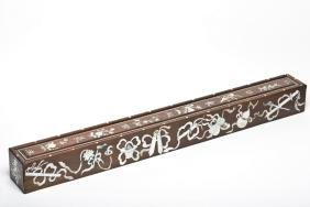 A Mother-of-Pearl inlaid Rosewood box