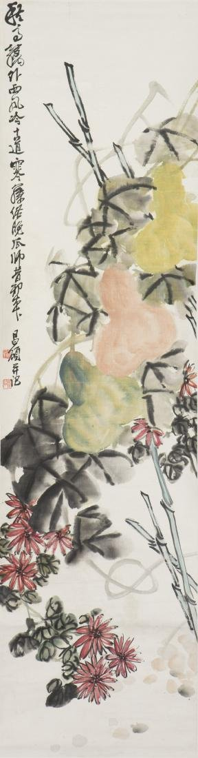 WU CHANGSHUO (ATTRIBUTED TO, 1844-1927), GOURD