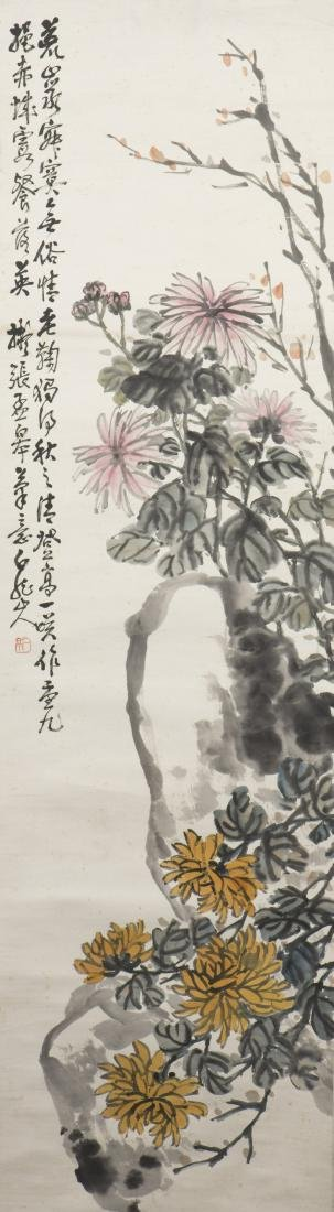 WANG YITING (1867-1938), BIRD AND FLOWER