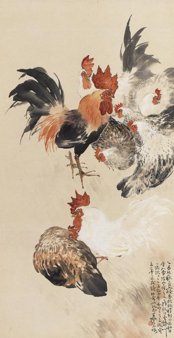 YANG SHANSHEN (1913-2004), ROOSTERS