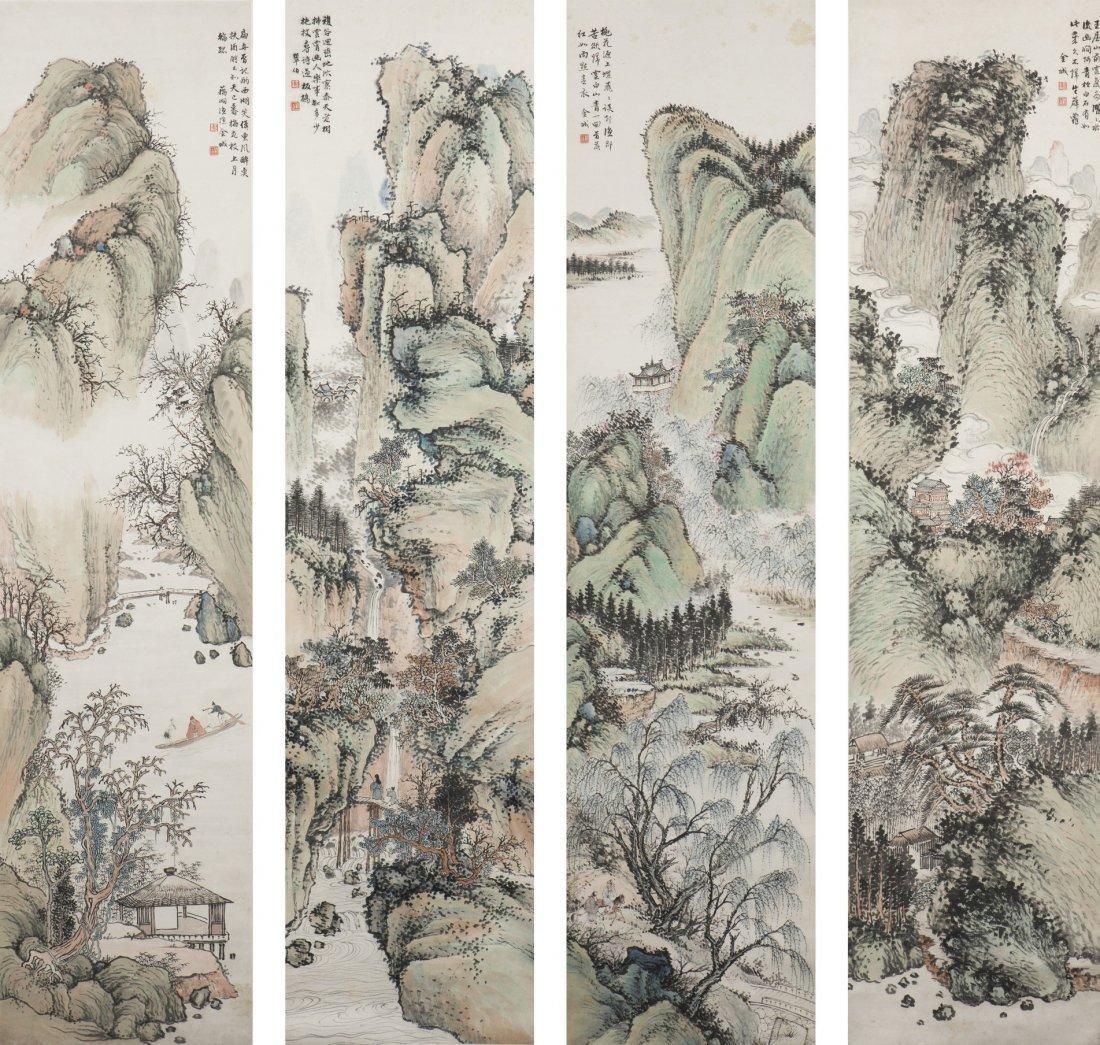 JIN CHENG (1878-1926), LANDSCAPES