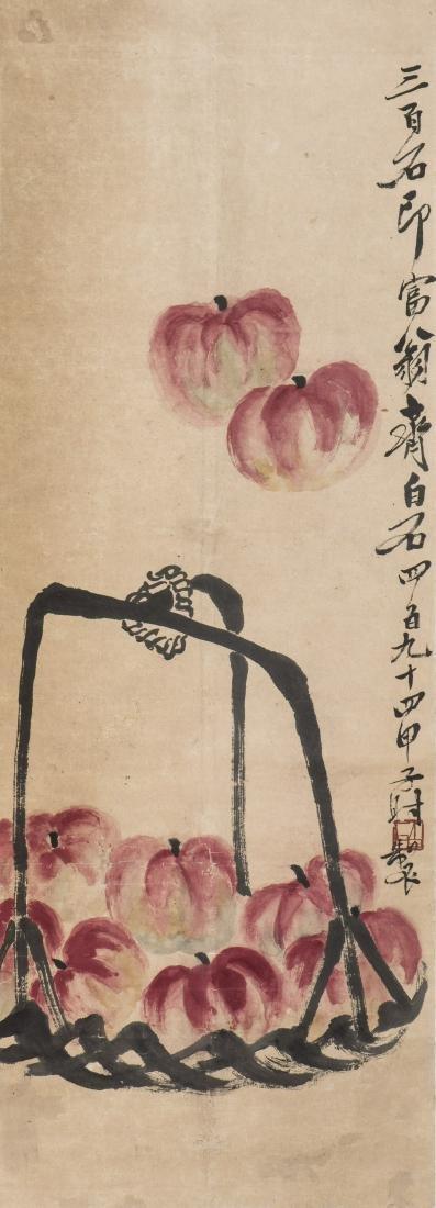 QI BAISHI (1864-1957), NINE APPLES
