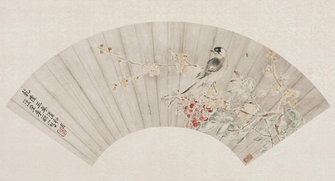 LI SHAN (1686-1756), BIRD AND FLOWER