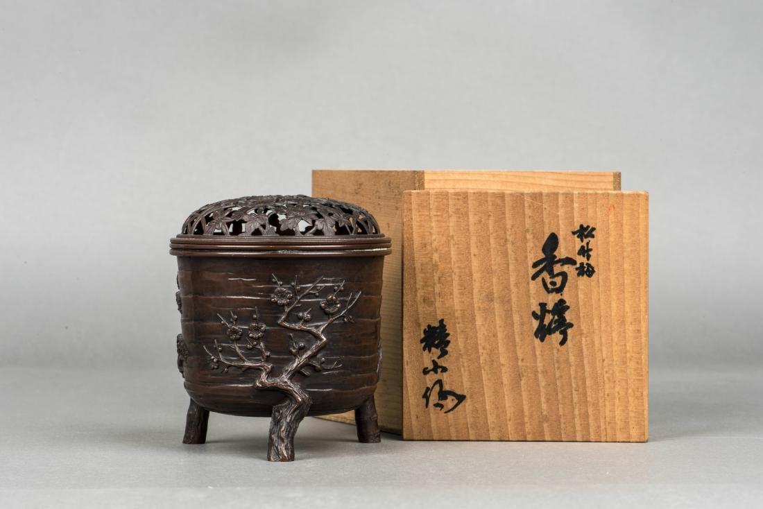 A JAPANESE BRONZE CENSER, 20TH CENTURY