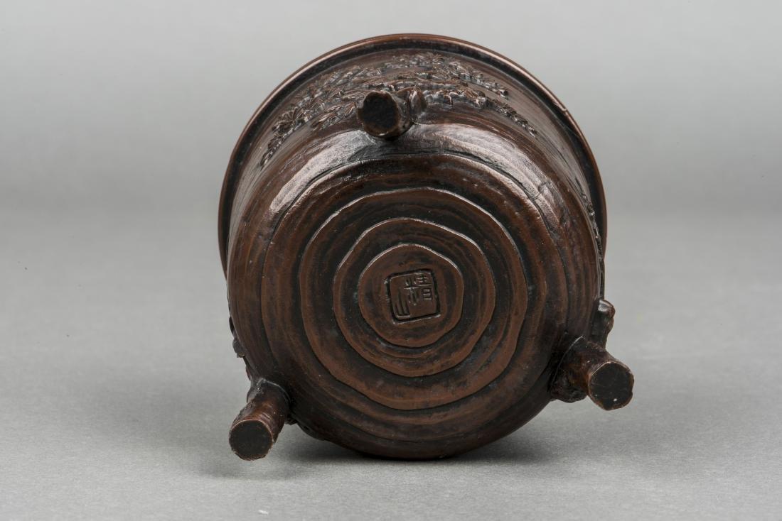 A JAPANESE BRONZE CENSER, 20TH CENTURY - 3