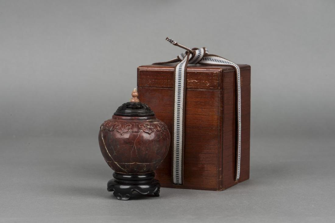 A SHOUSHAN SOPA STONE, 19TH CENTURY
