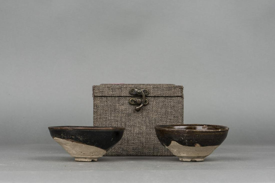 A PAIR OF TENMOKU JIAN TEA BOWLS