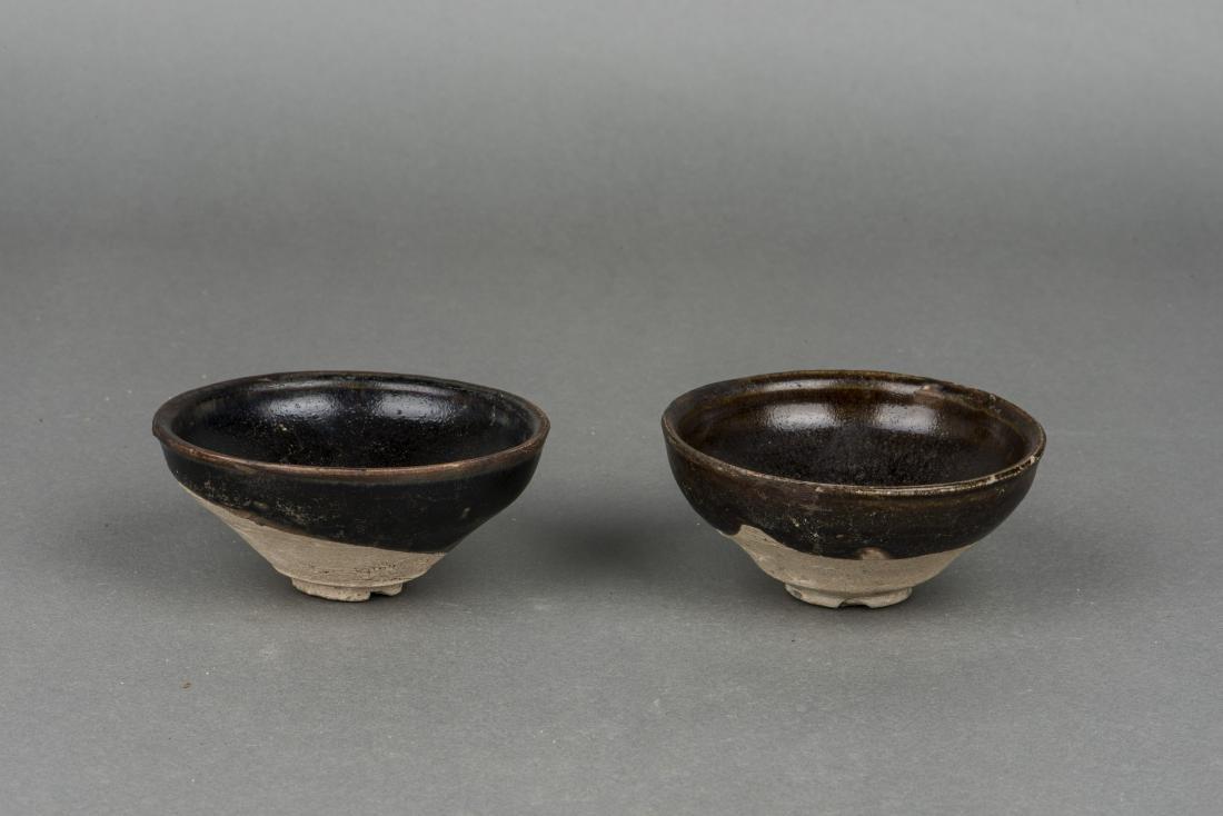A PAIR OF TENMOKU JIAN TEA BOWLS - 2