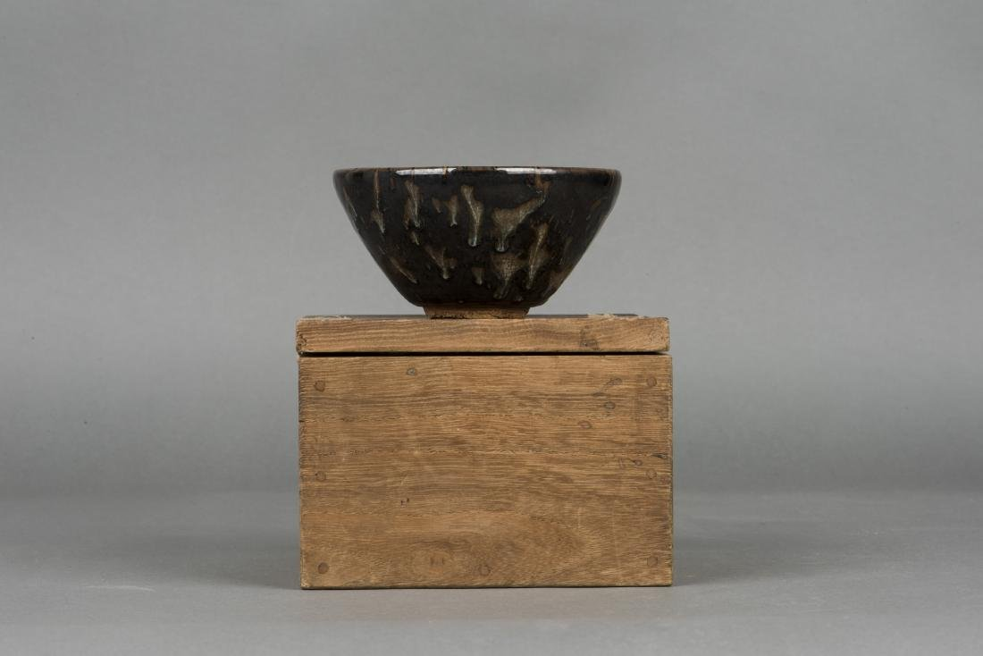 A JIZHOU TORTOISESHELL-GLAZED TEA BOWL