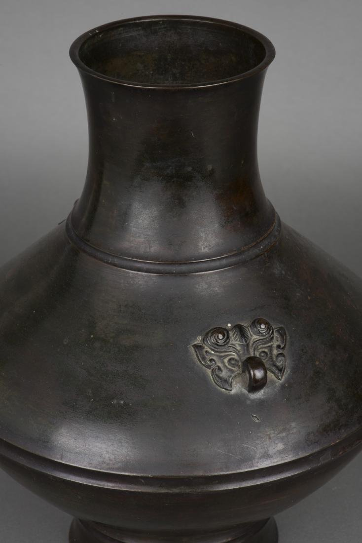 A BRONZE ZUN VASE, 19TH CENTURY - 2